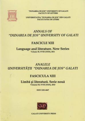 """Cover for Analele Universității """"Dunărea de Jos"""" din Galați.  Fascicula XIII. Limbă și literatură"""