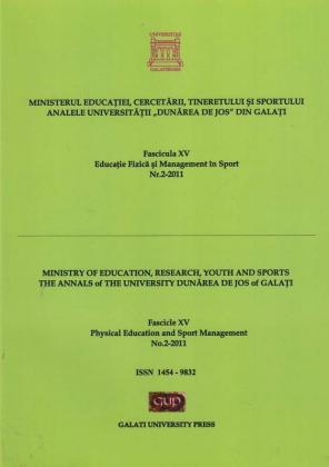 """Cover for Analele Universității """"Dunărea de Jos"""" din Galați.  Fascicula XV, Educație Fizică și Management în Sport"""