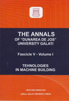 "Cover for The Annals of ""Dunarea de Jos"" University of Galati.  Fascicle V, Technologies in Machine Building"