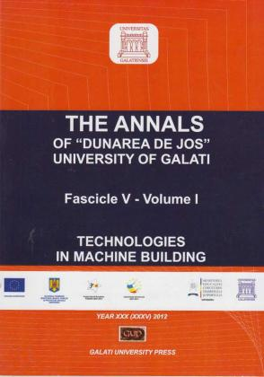 """Cover for The Annals of """"Dunarea de Jos"""" University of Galati.  Fascicle V, Technologies in Machine Building"""