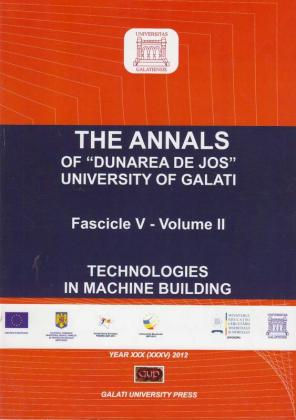"Cover for The Annals of ""Dunarea de Jos"" University of Galati. Fascicle V, Tech-nologies in Machine Building"