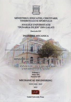 """Cover for Analele Universității """"Dunărea de Jos"""" din Galați,  Fascicula XIV, Inginerie mecanică"""