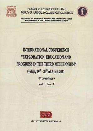 "Cover for International Conference ""Exploration, education  and progress in the third millennium"
