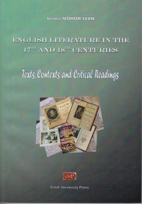 Cover for English Literature in the 17th and 18th Centuries.  Texts. Contexts and Critical Readings