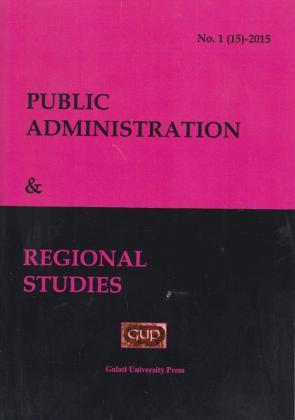 Cover for Public administration & Regional studies: nr. 1, 2015