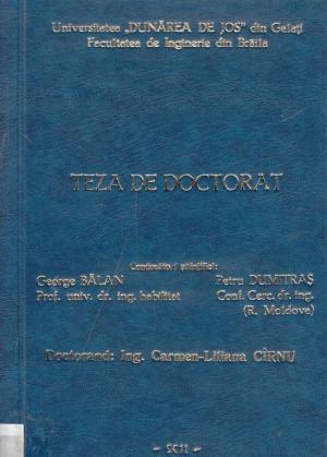 Cover for Cercetări privind utilizarea generatoarelor sonice în tehnologia de tratare a apei brute: teză de doctorat