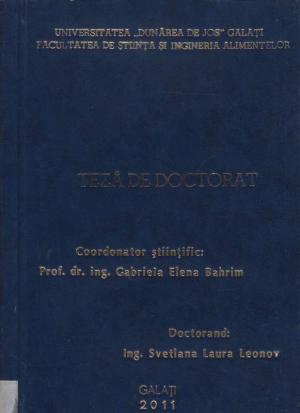 Cover for Obţinerea şi caracterizarea unei lipaze bacteriene active la temperaturi scăzute: teză de doctorat