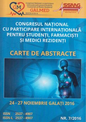 Cover for Congresul Național cu participare internațională pentru studenți, farmaciști și medici rezidenți Galmed: ediția a VII-a, 24-27 noiembrie 2016, nr. 7/2016