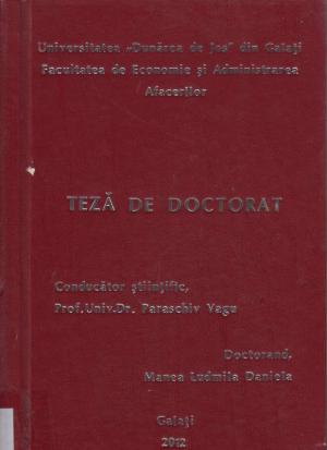 Cover for Ocuparea forţei de muncă în România, în contextul integrării în U.E.: teză de doctorat