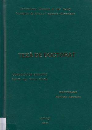 Cover for Sistem de creștere intensivă a nisetrului (Acipenser guldenstaedti): teză de doctorat