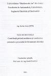 Cover for Contribuţii privind modelarea şi conducerea automată a procesului de fermentaţie alcoolică: teză de doctorat