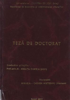 Cover for Specializarea economiei româneşti ca factor de creştere a competitivităţii pe piaţa internaţională: teză de doctorat