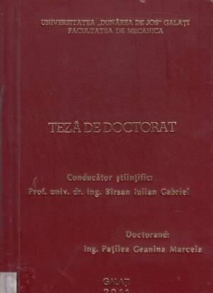 Cover for Studii asupra comportării etanşărilor cu manşetă de la cilindrii pneumatici cu tijă din materiale polimerice: teză de doctorat