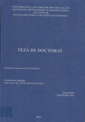 Cover for Un model de management performant al asigurărilor sociale de sănătate din România: teză de doctorat