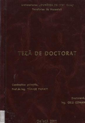 Cover for Cercetări teoretice şi experimentale privind câmpul de temperatură în pista patinoarului: teză de doctorat
