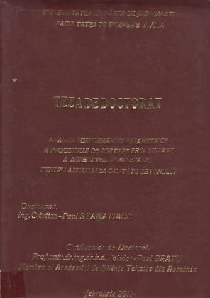 Cover for Analiza performanţei parametrice a procesului de sortare prin vibrare a agregatelor minerale pentru asigurarea calitaţii betonului: teză de doctorat