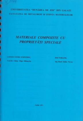 Cover for Materiale compozite cu proprietăţi speciale: teză de doctorat
