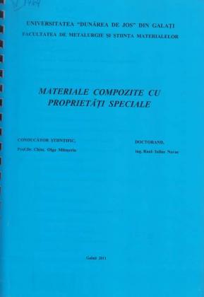 Cover for Materiale compozite cu proprietăţi speciale: teză de doctorat