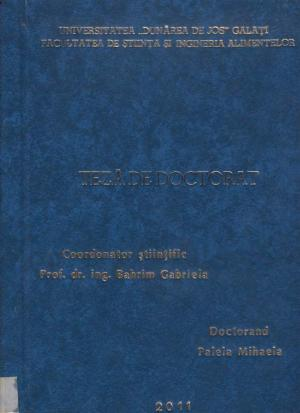 Cover for Study and modelling of the bioprocesses involved in the industrial wastewater bioremediation: teză de doctorat