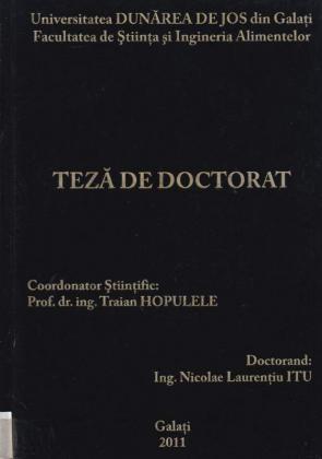 Cover for Biotehnologii moderne de obţinere a vinurilor albe aromate în podgoria Murfatlar: teză de doctorat