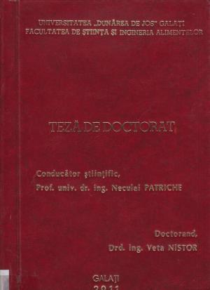 Cover for Cercetări privind conversia sistemelor de producţie ale speciei Cyprinus carpio carpio - Linnaeus 1758, de la tehnologia convenţională la cea ecologică: teză de doctorat