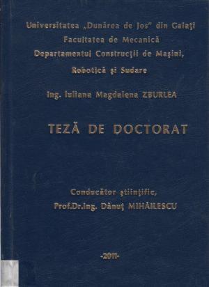 Cover for Calitatea îmbinărilor sudate la conductele realizate din oţeluri termorezistente: teză de doctorat