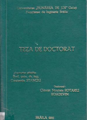 Cover for Contribuţii privind evaluarea impactului evacuărilor industriale şi agricole din judeţul Brăila asupra apelor Dunării: teză de doctorat