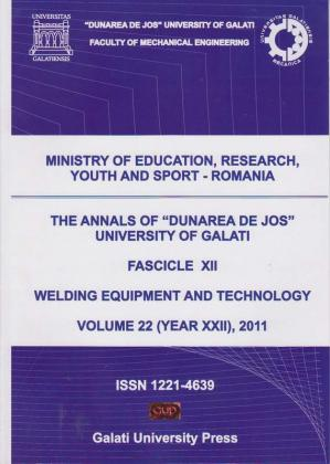 "Cover for The Annals of ""Dunarea de Jos"" University of Galati,  Fascicle XII, Welding Equipment and Technology: Volume 22 (year XXII), 2011"