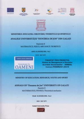 """Cover for Analele Universității """"Dunărea de Jos"""", Fascicula II, Matematică,  Fizică, Mecanică teoretică: Anul II, No. 2, 2010"""