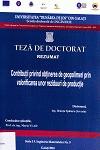 Cover for Contribuții privind obținerea de geopolimeri  prin valorificarea unor reziduuri de producție: teză de doctorat