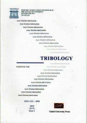 """Cover for The Annals of """"Dunarea de Jos"""" University of Galati.  Fascicle VIII, Tribology: Issue 1 (year XVI), 2010"""