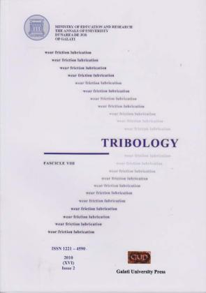 """Cover for The Annals of """"Dunarea de Jos"""" University of Galati.  Fascicle VIII, Tribology: Issue 2 (year XVI), 2010"""