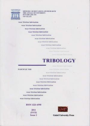 "Cover for The Annals of ""Dunarea de Jos"" University of Galati.  Fascicle VIII, Tribology: Issue 1 (year XVII), 2011"