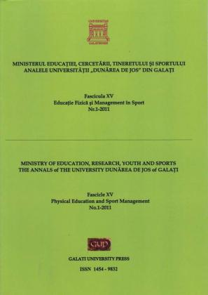 """Cover for Analele Universității """"Dunărea de Jos"""" din Galați.  Fascicula XV, Educație Fizică și Management în Sport: Volum 2, Galați: Galati University Press, 2010"""
