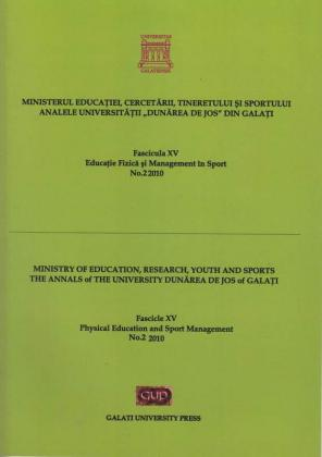 """Cover for Analele Universității """"Dunărea de Jos"""" din Galați.  Fascicula XV, Educație Fizică și Management în Sport: Volum 1, Galați: Galati University Press, 2011"""