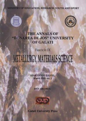 "Cover for The Annals of ""Dunarea de Jos"" University of Galati, Fascicle IX, Metallurgy and Materials Science: Year XXVIII, No. 1, Galați: Galati University Press, March 2010"