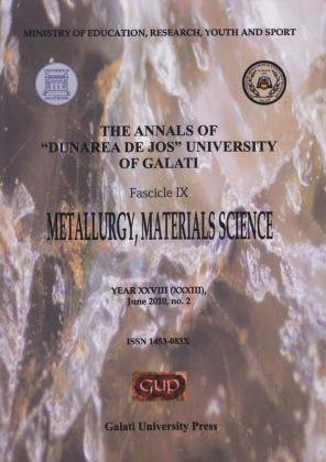 "Cover for The Annals of ""Dunarea de Jos"" University of Galati, Fascicle IX, Metallurgy and Materials Science: Year XXVIII, No. 2, Galați: Galati University Press, June 2010"