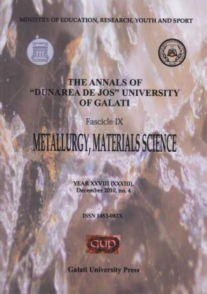 "Cover for The Annals of ""Dunarea de Jos"" University of Galati, Fascicle IX, Metallurgy and Materials Science: Year XXVIII, No. 4, Galați: Galati University Press, December 2010"