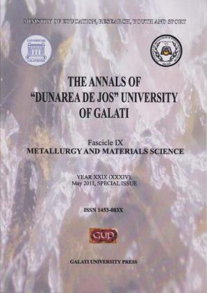 """Cover for The Annals of """"Dunarea de Jos"""" University of Galati, Fascicle IX, Metallurgy and Materials Science: Year XXIX, (XXXIV), Special Issue, May, Galați: Galati University Press, 2011"""