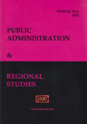 Cover for Public Administration and Regional Studies: Year III, No. 2, 2010