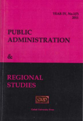 Cover for Public Administration and Regional Studies: Year IV, No. 1, 2011