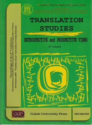 Cover for Translation Studies. Retrospective and Perspective Views: 4th volume, 8-9 October 2009