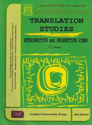 Cover for Translation Studies. Retrospective and Perspective Views: 7th volume, 8-10 October 2010