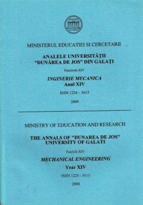 """Cover for Analele Universității """"Dunărea de Jos"""" din Galați,  Fascicula XIV, Inginerie mecanică: Volume I, Issue XIV, Galati University Press, 2008"""