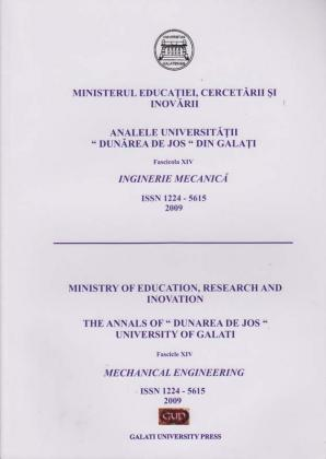 "Cover for Analele Universității ""Dunărea de Jos"" din Galați,  Fascicula XIV, Inginerie mecanică: Volume I, Issue XV, Galati University Press, 2009"