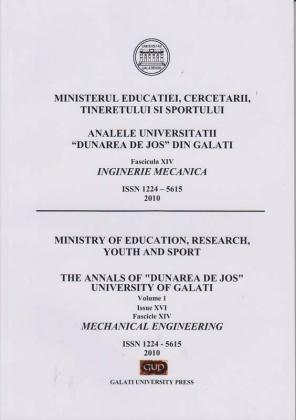 """Cover for Analele Universității """"Dunărea de Jos"""" din Galați,  Fascicula XIV, Inginerie mecanică: Volume II, Issue XVI, Galati University Press, 2010"""