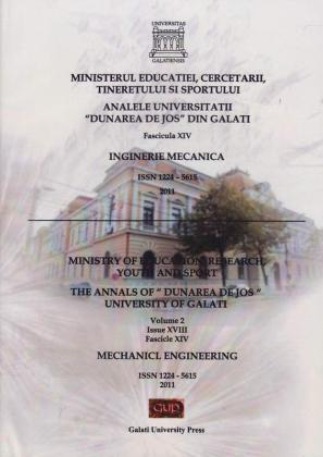 """Cover for Analele Universității """"Dunărea de Jos"""" din Galați,  Fascicula XIV, Inginerie mecanică: Volume II, Issue XVI, Galati University Press, 2011"""