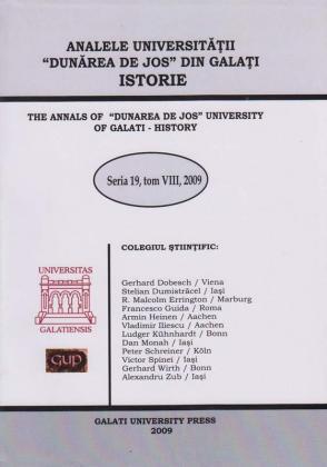 """Cover for The Annals of """"Dunarea de Jos"""" University of Galati, History: Seria 19, Tom VIII, 2009"""