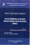 Cover for Aplicații chemometrice ale influenței radiațiilor ionizante asupra țesuturilor tumorale: teză de doctorat