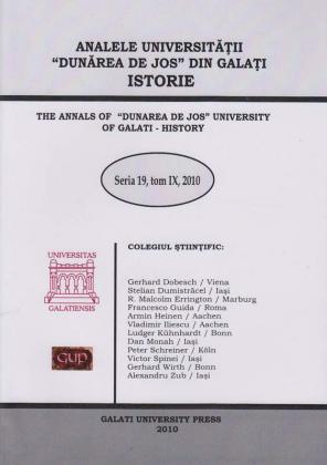"""Cover for The Annals of """"Dunarea de Jos"""" University of Galati, History: Seria 19, Tom IX, 2010"""
